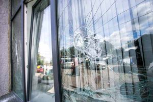 storefront, door, curtain wall damage repair, broken glass replacement